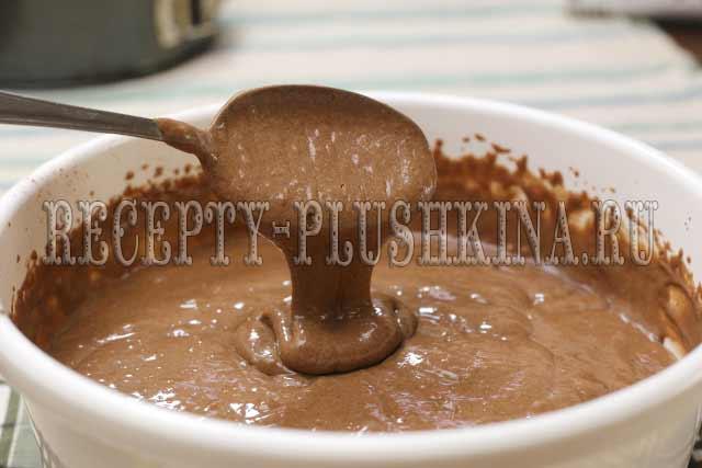 шоколадное тесто для бисквита на кефире
