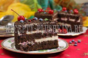 торт Черный принц классический рецепт