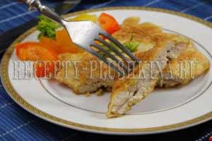куриная грудка в кляре на сковороде