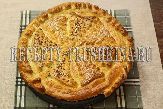 рецепт дрожжевого пирога с капустой и яйцами