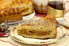 Пирог с капустой и яйцом из дрожжевого теста