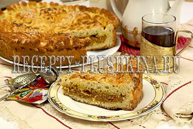 пирог с капустой и яйцом, 2-дрожжевой пирог с капустой и яйцом