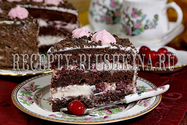 торт Пьяная вишня классический рецепт