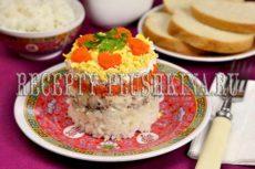 Салат из сайры с яйцом и рисом