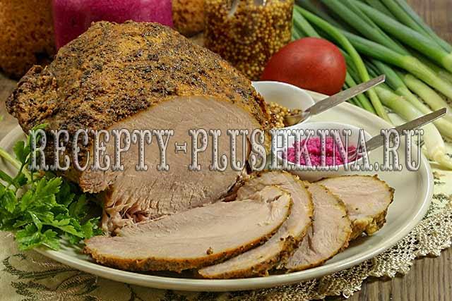 свиной окорок запеченный в духовке в фольге