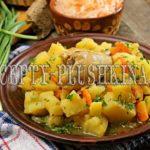 тушеная картошка с курицей в кастрюле